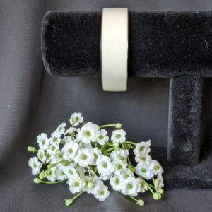 ANN TAYLOR WHITE BANGLE BRACELET